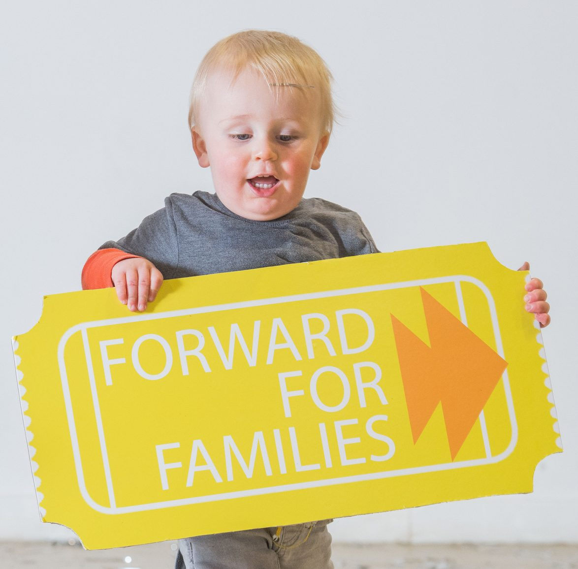 """WWW.IANGEORGESONPHOTOGRAPHY.CO.UK Picture: Finn McDougall 16months (Orange sleeves) and Bode Fleming 15months with a giant ticket Just the Ticket for Scotland's Toddlers  Starcatchers Scotland's National Arts and Early Years Organisation has launched a new fundraising scheme, Forward for Families, to provide theatre seats for very young children and their families in need across Scotland.  A recent study suggests more than 200,000 children are growing up in poverty in Scotland. Scottish Government Social Research consistently evidences that access to theatre and cultural experience enriches lives and impacts positively on health and well-being. However a Starcatchers audit of audience participation suggests 72% rarely engage in cultural experiences with their babies and many have never engaged with their local community arts venue.  Forward for Families will enable parents with very young children from all walks of life in Scotland to experience a high-quality shared theatre experience.  Seats will be allocated within the Scottish tour of Starcatchers and Edinburgh based dance company Curious Seed's new dance, live music and theatre experience MamaBabaMe, for babies aged 18 months – 3 years and their parents and carers.  Working in partnership with three venues in Scotland; The Byre Theatre in St Andrews, Platform in Easterhouse, Glasgow and Macrobert Arts Centre in Stirling, the scheme has an initial fundraising target of £800 and will directly benefit 45 families across these three communities.  Scottish children's theatre is celebrated across the world as being some of the most creative and innovative. Starcatchers has seen growth, appreciation and demand for their work rapidly increase as parents, carers and educators see the value that creativity and the arts has on young children.  Rhona Matheson, Chief Executive of Starcatchers said:  """"Babies and the adults who care for them are at the heart of everything that we do at Starcatchers. We believe that arts and c"""